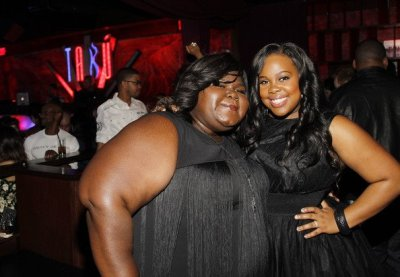 Gabourey Sidibe + Amber Riley at Amber's birthday party in Las Vegas this past weekend…