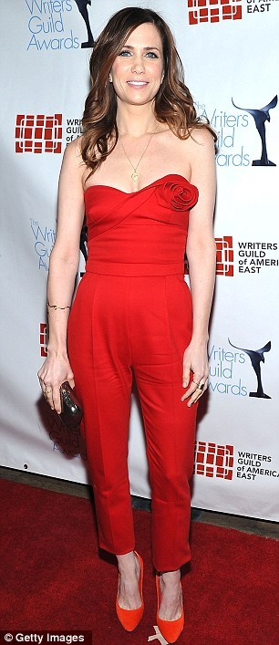 WORST DRESSED: Kristen Wiig @ Writer's Guild Awards(in VALENTINO Pre-Fall 2012 Collection) WHY: This is how NOT to rock a jumpsuit.  First off,  she's gotten way too skinny.  Due to the weightloss, she has absolutely  no boobs.  When you don't have boobs, it's usually easier to wear  strapless things - right?  In this case, WRONG, DEAD WRONG.  The top  part of this jumpsuit is so ill-fitting, that what little boobies Ms.  Wiig has going for her, aren't even being encased in the bodice.  It's  just completely unflattering.  Fail, major fail.