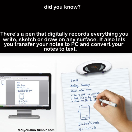 did-you-kno:  It's called the IntelliPen. Source  Me gusta