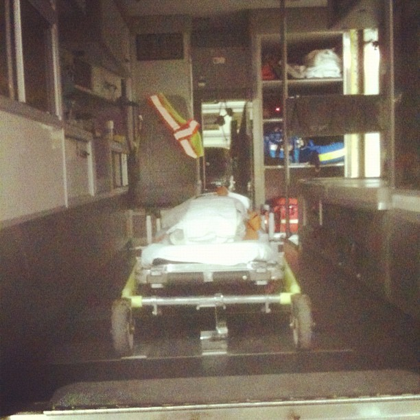 inside the paramedic truck (Taken with instagram)
