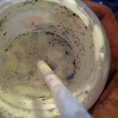 This was a Cookies and Cream milkshake from Chick-fil-A !  (Taken with instagram)