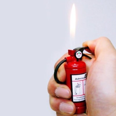 Fire Extinguisher Lighter With LED Light  Click on the picture for details