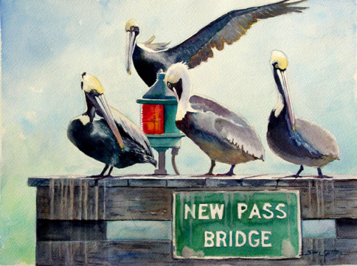 """New Pass Pelicans"" by Sue Lynn Cotton"
