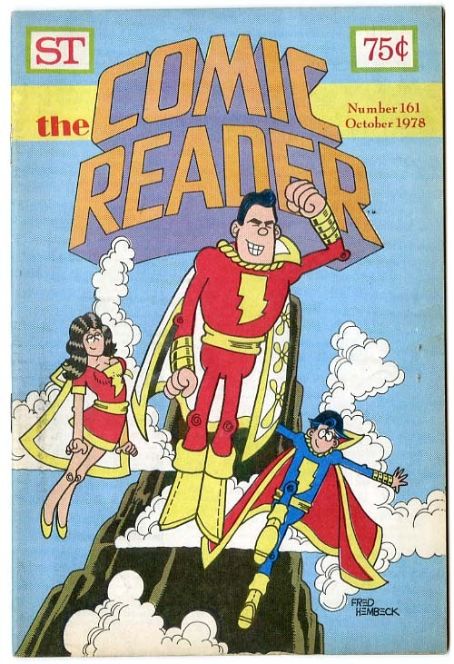 The Comic Reader #161, October 1978, cover by the one and only Fred Hembeck.