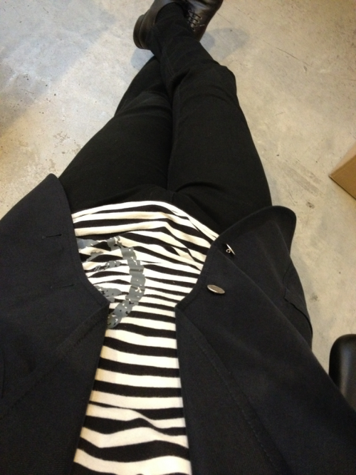 Today's outfit: Shirt by Marc by Marc Jacobs Pants by Underground Blazer by Bally Shoes by Prada