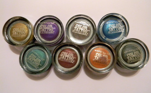 Maybelline's Color Tattoo 24 Hour Eye  Shadows