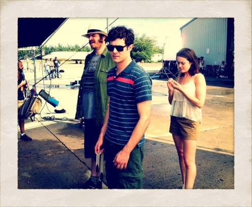 "Adam Brody at ""Welcome to the Jungle"" set"