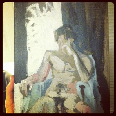 Figure painting session - 2010? #painting #acrylic #paint #art #figure #nude #dickhead friend:) (Taken with instagram)