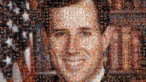 atheistfags:  Rick Santorum Made Entirely of Gay Porn Yes, the homosexuals at the embarrassingly-titled blog Unicorn Booty are showcasing this modern work of art that uses stills from gay porn movies to make an effigy of Santorum that will make him so angry he might spit the frothy mixture of lube and fecal matter that is sometimes the byproduct of anal sex. Actually, it probably won't do that, but it's fun to see a man who hates gay people and porn (and just about everything else that is fun and decent in modern American society) with his nose made out of an anal sex scene. Yes, fun indeed. Here's the full version if you want to see all the balls up close.