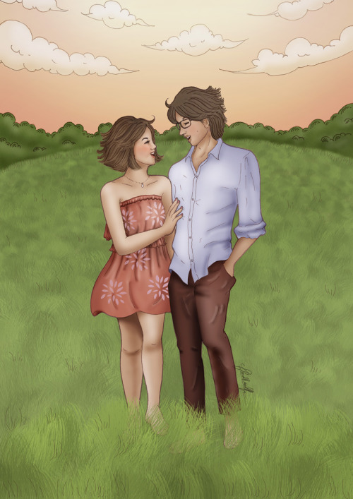 Ari + Lili Illustration for Just Married Couple http://www.purepicturesblog.com/ and http://www.facebook.com/eleonoralily