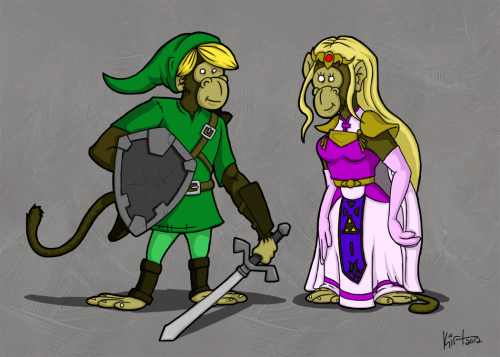 CaricaChimps #3 - Link and Zelda