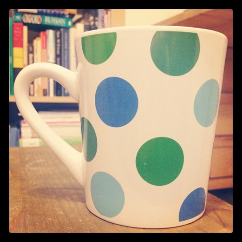 Reviving my tea habit. #adayinthelife #366photo #tea #polkadots (Taken with instagram)