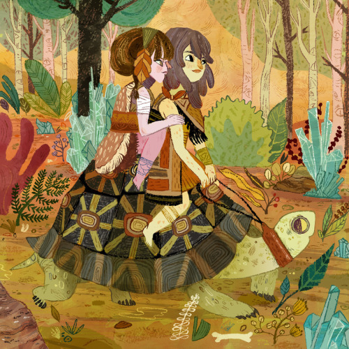 hicockalorum:   Tortoise Ride by Meg Hunt