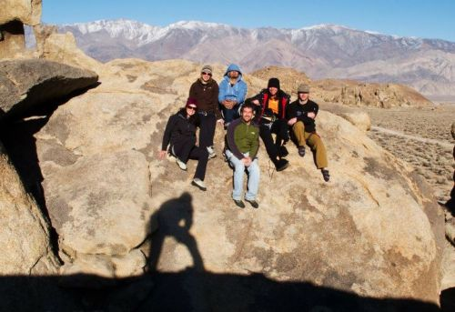 Group Shot with our new leader - Sherpa Bunny! Alabama Hills, Lone Piine, Ca (via Photos of You)