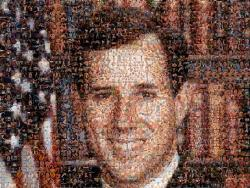 Rick Santorum Portrait made entirely of Gay Porn (Okay so I had porn on my page for once, but it was a political statement damn you!)