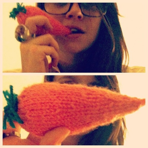 One time I knitted a carrot.