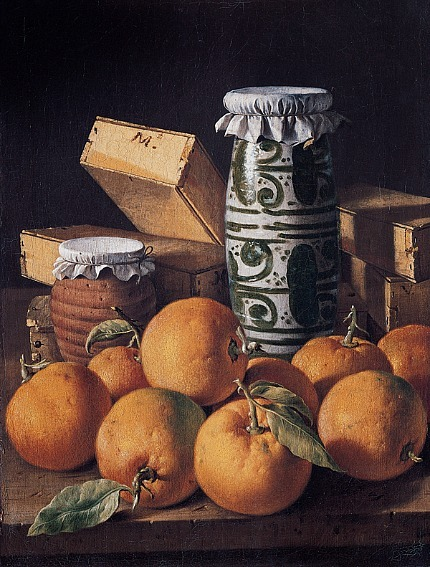 Luis Meléndez Still Life with Oranges, Jars and Boxes of Sweets 1760–65