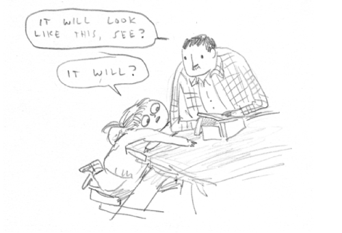 beatonna:  I sketched this comic about me, my dad, and something we made.  Dangit, why you gotta make me cry at your heartwarming displays of Canadian family bonding?  You're good.