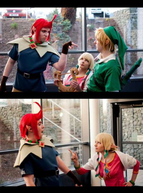 Skyward Sword: The Point  Characters/Cosumers: -The Legend of Zelda: Skyward Sword Groose: ~schecter006 Zelda: *Emi-zone Link: Cameron Photo by: Matthew Calvert Also check them out on stage for the Midlands Masquerade