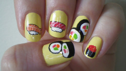 Sushi Nails #2via kyleymd