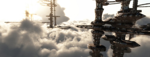 City in the Sky by GraphixRob  Website || Deviantart || Tumblr