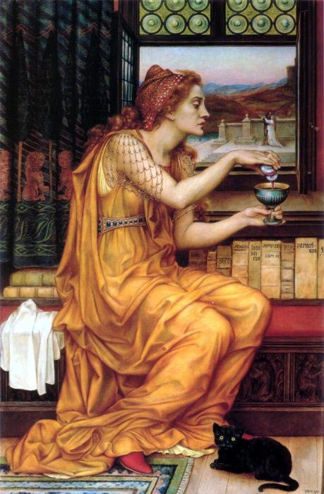 turnofthecentury:  The Love Potion, 1903 by Evelyn De Morgan