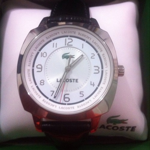 My Lacoste Watch =)  (Taken with instagram)