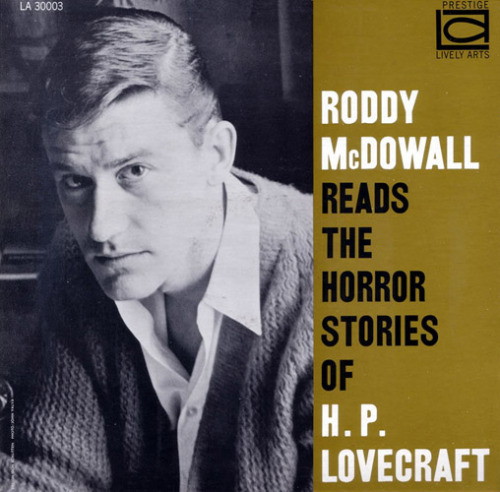 monsieur-antichrist:  browsethestacks:  Vintage Record - Roddy McDowall Reads The Horror Stories Of H. P. Lovecraft  holy christ