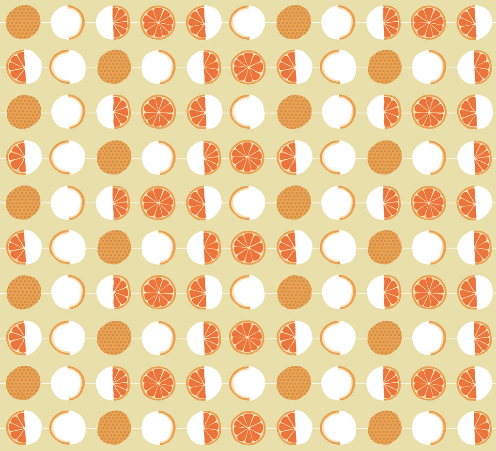"Oranges ""Lunar Cycle"" pattern"