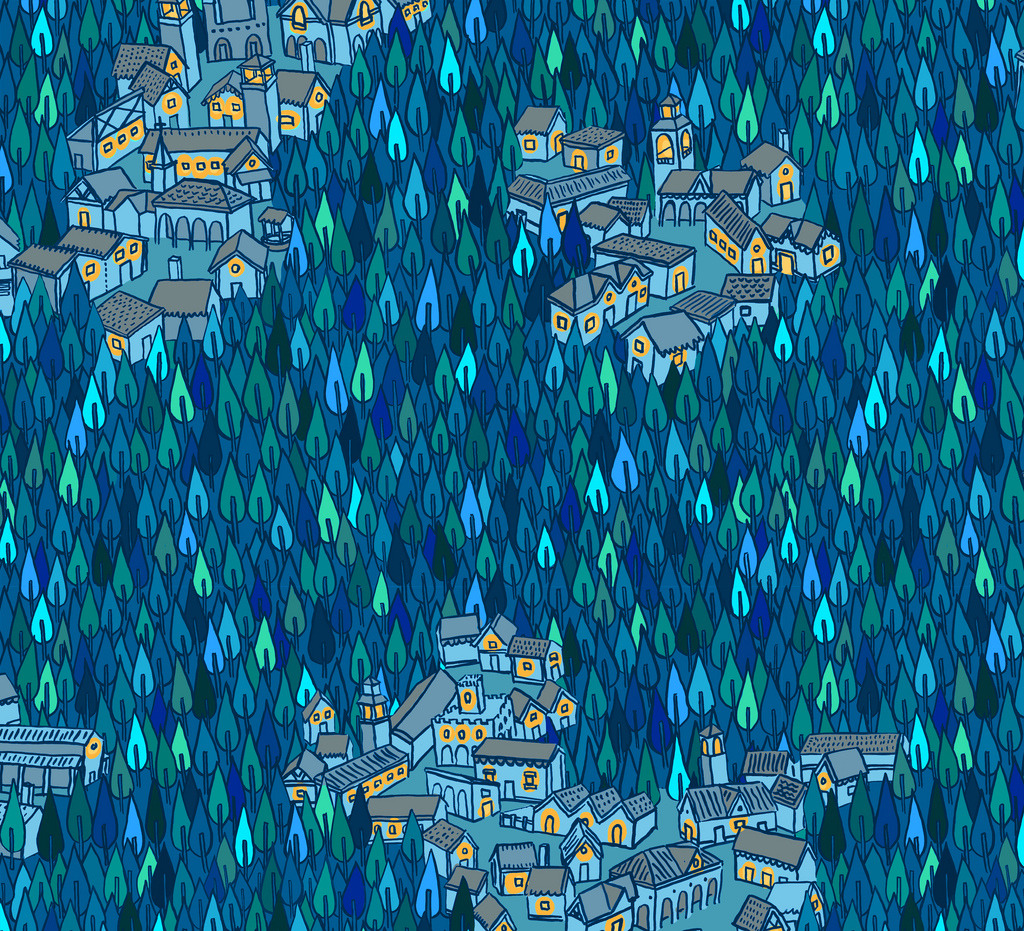 Villages in the Woods pattern