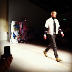 First look on the runway at #ChristopherShannon #lfw #attheshows  (Taken with instagram)