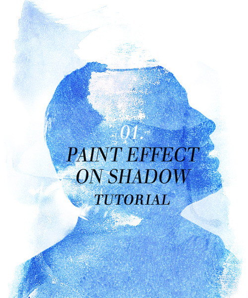 asked by anon  So here's a little tutorial for a paint effect with shadows. It was made with photoshop CS4 but you can make it with any previous version of the software. It is a beyond simple effect that takes no time to realize.So the picture I've been asked to explain the effect I used on is that one.  1. First step after opening my picture, is to make it black and white by using the little black and white circle in the layers window. That done, what I will try to do is to make the faces look like shadows by using the curve tool you find in the same black and white circle. Your settings will look like this. 2. Then, you open a new file sized 500x600px which you're gonna use as background. 3. The paint texture I used is that one. I resized it width: 698px and height: 500px. Then I copied it on my background new file. There, what you do is you're gonna turn it: right click > free transform > 90° CW. 4. So when that's settled, you put your Moriarty picture (I didn't resized it in that case) on the same background, but beneath the paint texture. You then put the texture in screen layers and you should get something like in the picture. 5. Take the Moriarty picture, duplicate it, put in above the first texture in screen, and put it in soft light with 30% of opacity. Then you take the texture in screen, you put it above the soft light Moriarty picture in soft light too, 100% opacity this time. You should get something like this. (this step gets the background to be seen a little more and the whole thing to be a little more darker) 6. You then only need to settle the color (I used red in the original, blue in here) by using the hue/saturation tool found in the same little black and white circle. 7. If your image has some flaws (like here, we can still see a bit of Sherlock's coat on the right), you just delete them with the eraser tool. For the exact same thing, you flatten your image and sharpen it a bit; and here is your result.  Okay guys, so this is the easiest thing. I hope you enjoyed it and all, don't be afraid to ask questions if you didn't get something ^_^.