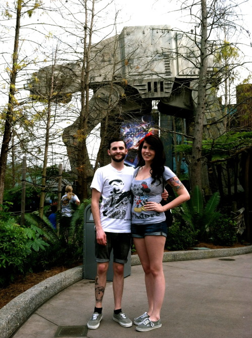 Me, my lady and an AT-AT.