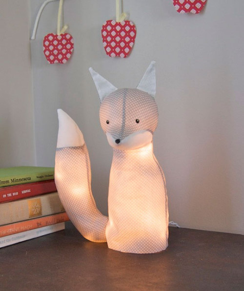Tutorial for this cool selfmade fox lamp!