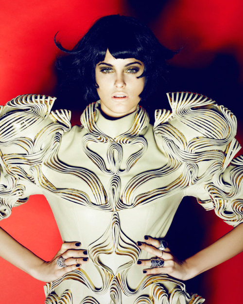 "Alejandra Alonso in ""Armored Beauty"" Photographed by Enric Galceran  and Styled by Dixi Romano for L'Officiel Ukraine"