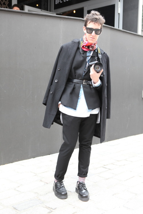 Pio spotted at Somerset House by the H&M UK Team. It's all about layering.