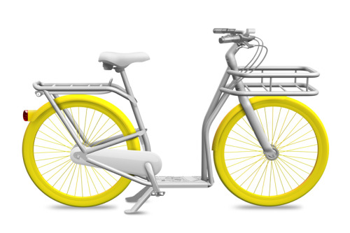 Philipe Starck's city bike for Bordeux, France. Innovative design or just a load of superficial dross? Personally, I pick the latter. For starters, as a product designer, I don't quite understand how a designer of Starck's stature produces such a dull, basic render to impress his clients/public. Also, the pedals look way too inline with the seat that I can imagine it being extremely uncomfortable to ride. The foot pedal and the robust frame are the positives for me as it fits in well with public use, but apart from that, I really feel it needs a lot more work. But, of course, I'm not Philipe Starck, and I'm sure his name alongside this bike alone will make this a success. Rant over.