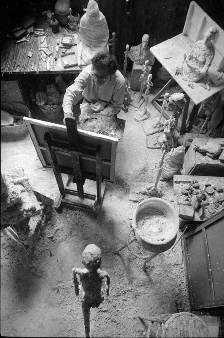 Giacometti Painting in His Studio, 1965 theparisreview.org