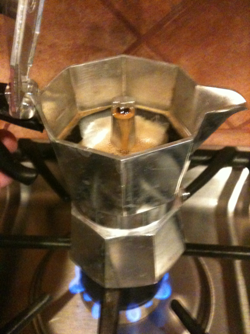 I love my Bialetti Moka espresso pot. Nothing like good strong coffee to wake you up in the morning.