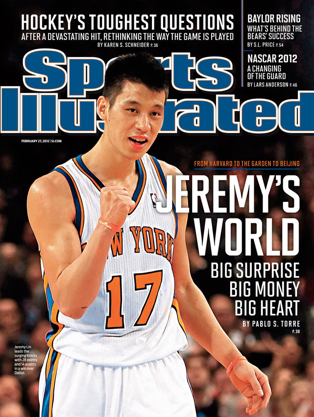 For the second week in a row, Knicks guard Jeremy Lin is this week's Sports Illustrated cover subject. The Harvard grad has led New York to 8-2 record since taking over as Starting point guard. (Chris Trotman/Getty Images) CLICK HERE TO BUY A COPY OF THIS WEEK'S SI COVER