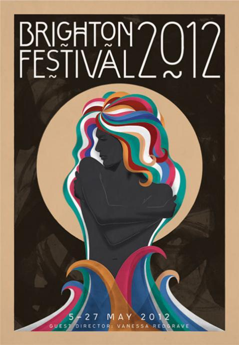 Hmm the new Brighton Festival poster seems to be an homage to Milton Glaser's Dylan poster, with Charles Rennie Mackintosh typography… very vibrant Brighton! (via Brighton Festival brochure revealed (From The Argus))