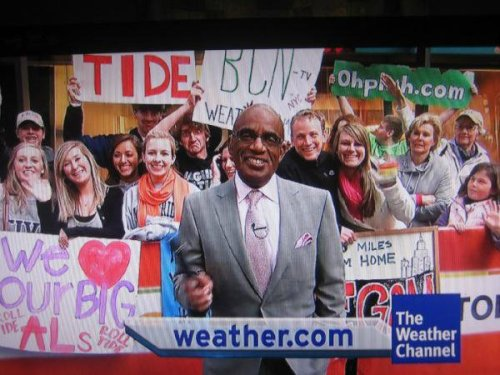 Today Show Blackenshipping   He brought the face sign, but Al Roker insisted on having the funniest mug on screen.