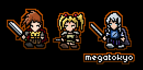 pirorant:  Here are the three sprites i made yesterday - didn't come out too bad.  These are for a new shirt design i should have up later today :)         Ha ha, these are cool! I've wanted to try pixel art before, and I've looked up ways to do it, but….ugh, I don't think I have the knack for it. Maybe I'll try again, some day.