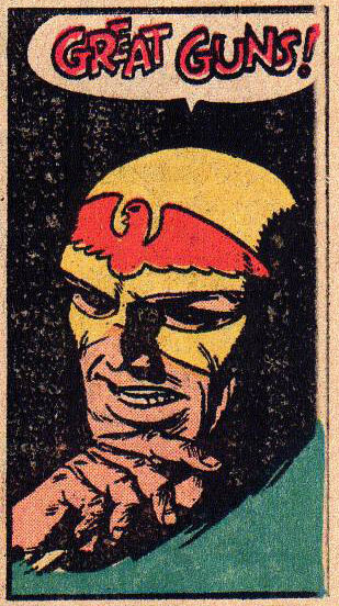 Early Joe Kubert, from Flash Comics #100 and reprinted in Wanted:The World's Most Dangerous Villains #3 (A great comic to have, as it also reprints a Mort Meskin/Joe Kubert Vigilante story)
