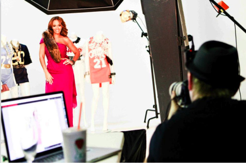 "Shooting the gorgeous Evelyn Lozada for her upcoming book (cover) titled: ""Inner Circle"""
