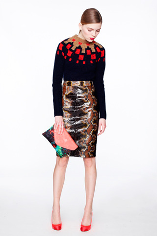 J.Crew Fall 2012. Absolutely love the mix of textures. This look is insane.