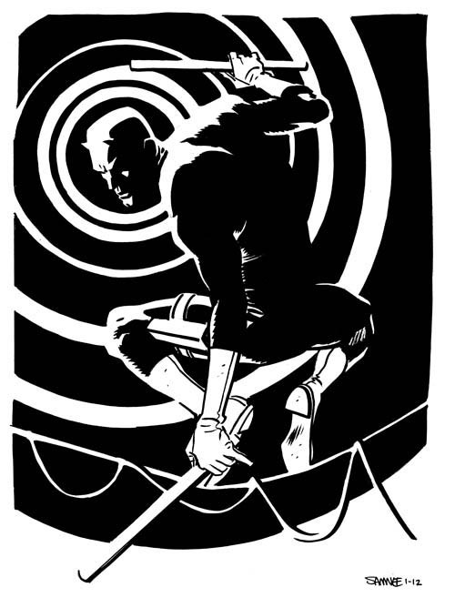 Daredevil by Chris Samnee  —Samnee will soon be joining writer Mark Waid on the monthly Daredevil with issue #12, rotating story arcs with artist Paolo Rivera!