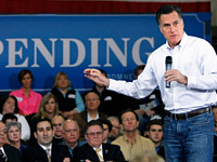 Romney Proposes Slashing Top Tax Rate to 28 Percent Former Massachusetts Gov. Mitt Romney, seeking to kick-start his presidential campaign among recalcitrant conservatives, will propose cutting the top income tax for individuals to 28 percent, advisers said today.   Full Story  Photo: Getty Images