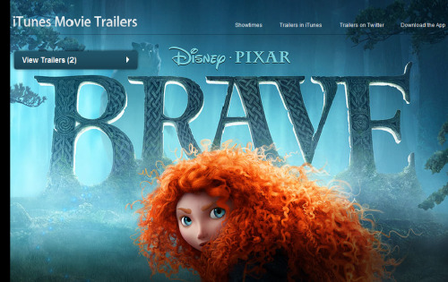 The trailer section for Brave gets a new look in form of a New Merida poster! How exciting! :D (x)