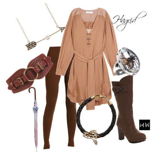 Hagrid by duckyrose featuring antique belts